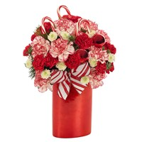 Peppermint Twist flower bouquet for holiday gifts (BF435-11K)